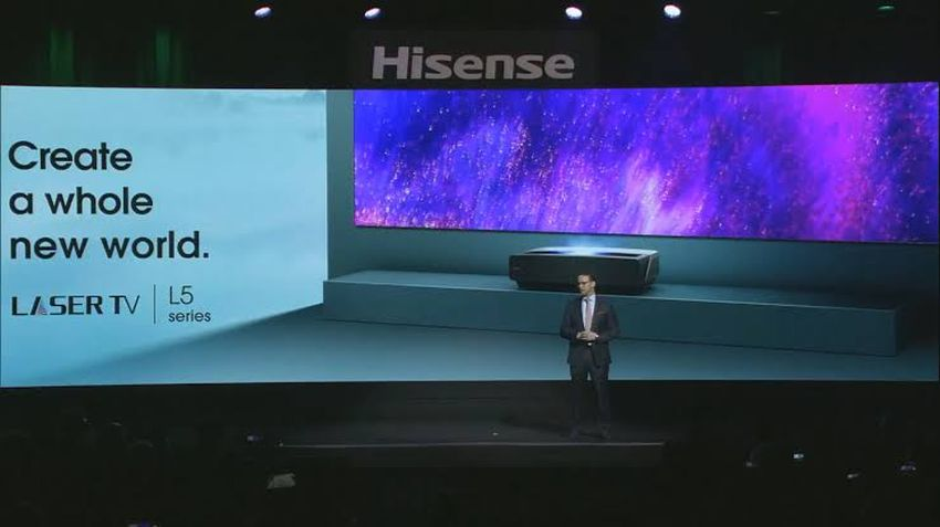 Hisense Launches Ultra-Short-Throw 4K Laser Projector at CES 2020
