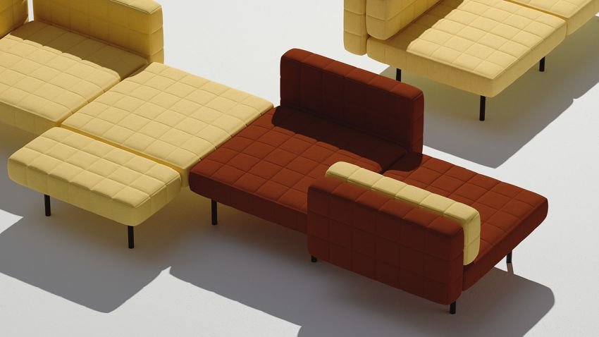 Bjarke Ingels Group Develops Voxel modular sofa for Common Seating