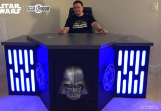 Regal Robot Custom-Builds Imperial-Themed Desk for a Star Wars Fan