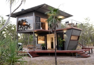 This Rental Cabin in Hideaway Litchfield, Australia is Made out of Shipping Containers