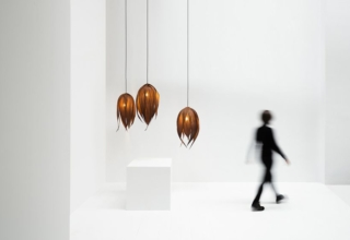 Couro Lamps Designed by Cecilia Ferrero are Made of Palm Leaves