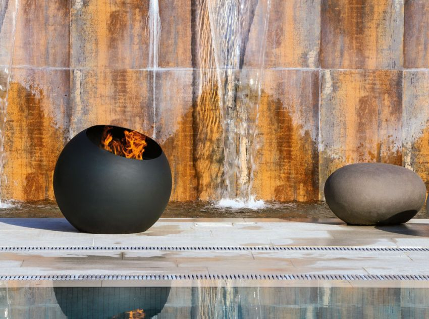 Bubble Outdoor Wood-Burning Fire Pit from Focus Fireplaces