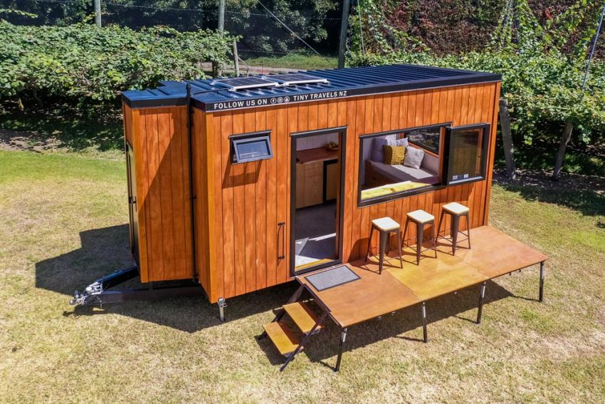 Couple Shifts to Tiny House for Travelling New Zealand