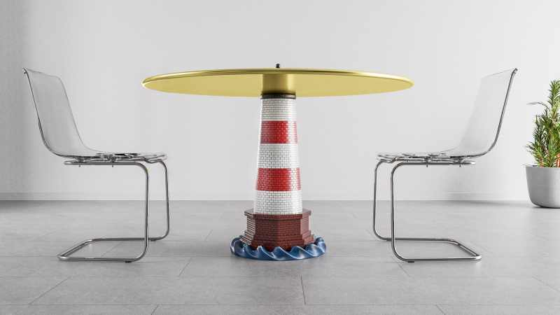 Lighthouse Dinning Table by Stelios Mousarris