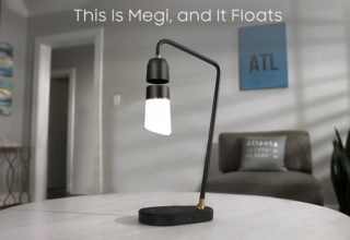 Megi Levitating Lamp can be Controlled with Voice Commands