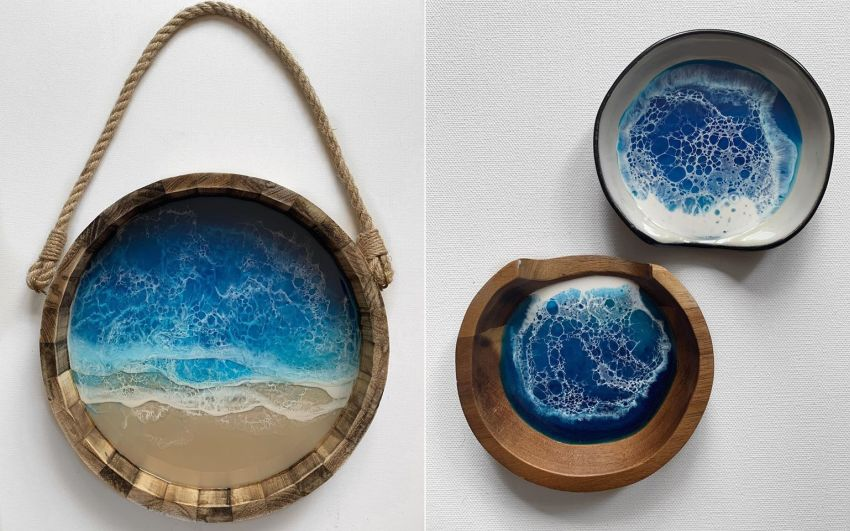 Roni Langley's Resin Artworks are Inspired by NC Beaches