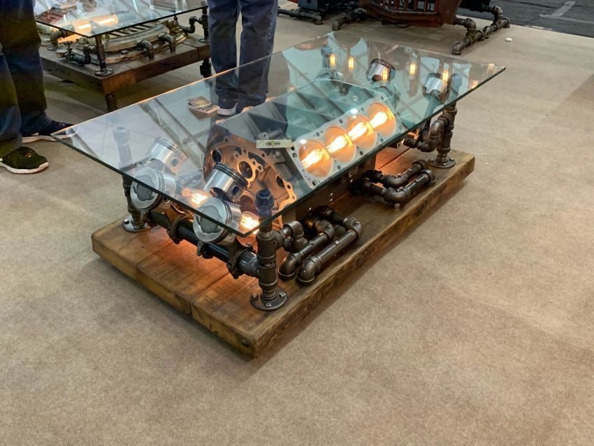 This Steampunk Style Coffee Table is a Statement Piece for Home or Office
