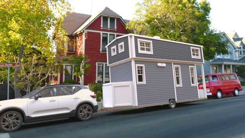 Wilderwise Tiny House with Expandable Roof Increases Headroom in Loft