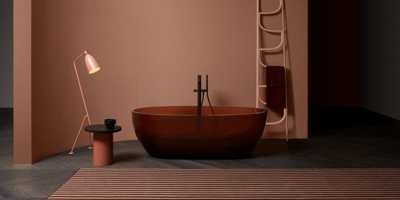 Antonio Lupi Makes Washbasins and Bathtubs from Colored Transparent Resin