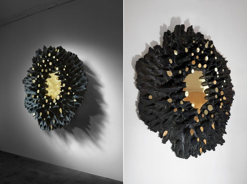 Eduard Locota Launches New Carbon Series of Wall Artworks Made of Coal and Resin