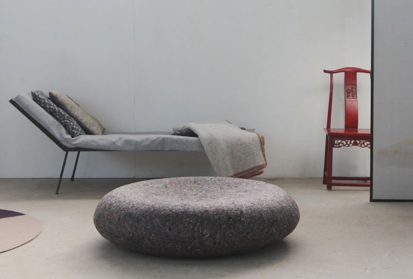 Pressing Matters Floor Lounger is made of Textile Waste