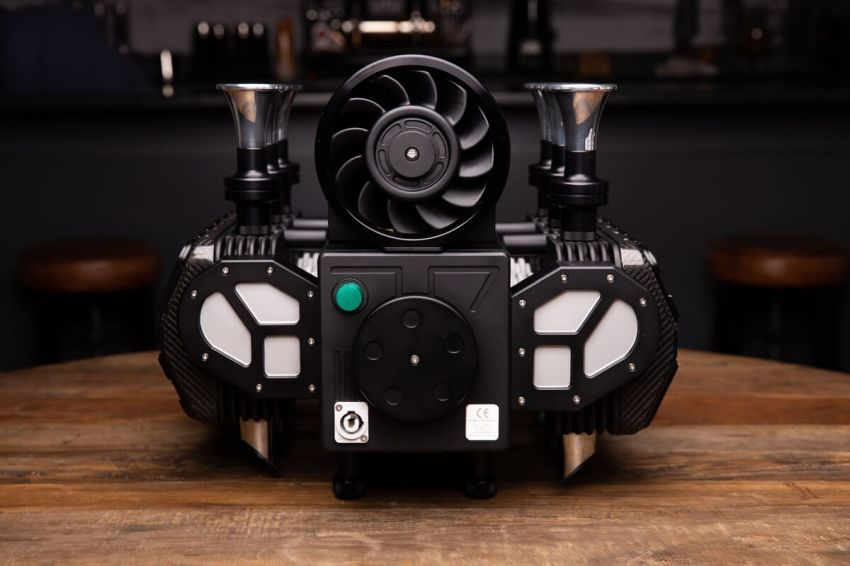 Super Veloce New Coffee Machine is Modeled After Porsche's Flat Six Engine