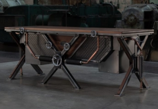This Industrial Style Steampunk Desk by Steel Vintage is a Statement Piece