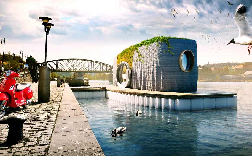 Czech Republic's Floating House to be 3D-printed in 48 Hour