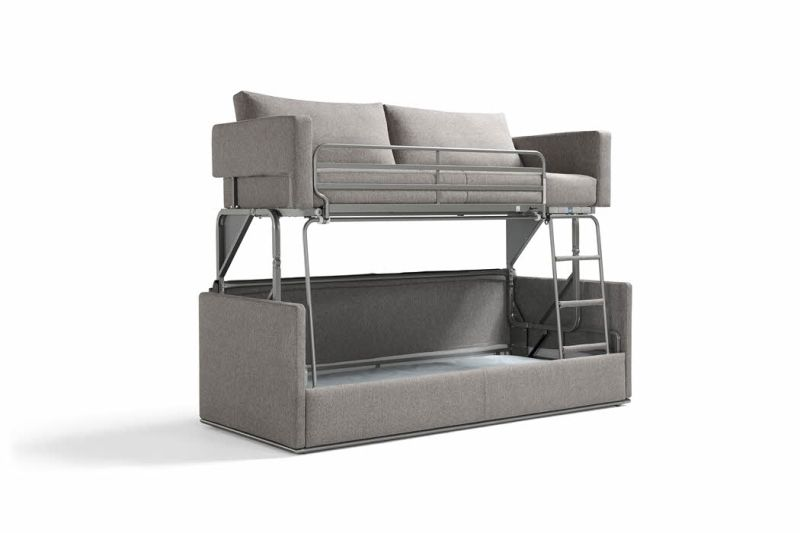 Gemini Transforming Sofa by Resource Furniture Turns into Bunk Bed