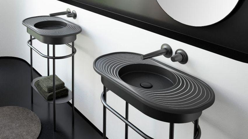 Karim Rashid Designs Lap Plus Washstand for Glass Design