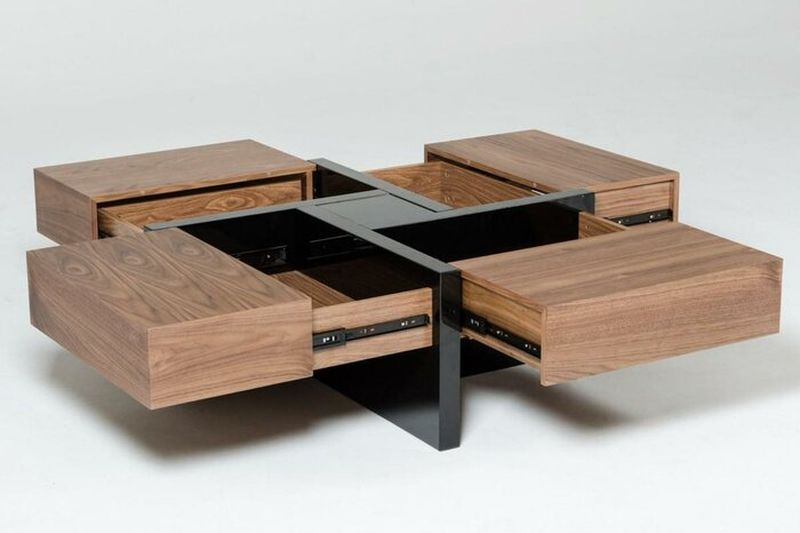 Lipscomb Coffee Table has Four Hidden Storage Drawers