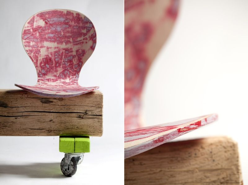 Luva Bornoffi's Salami Chair Combines Art, Design and Upcycling