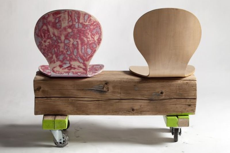 Luva Bornoffi's Salami Chair Combines Art, Design and Upcycling