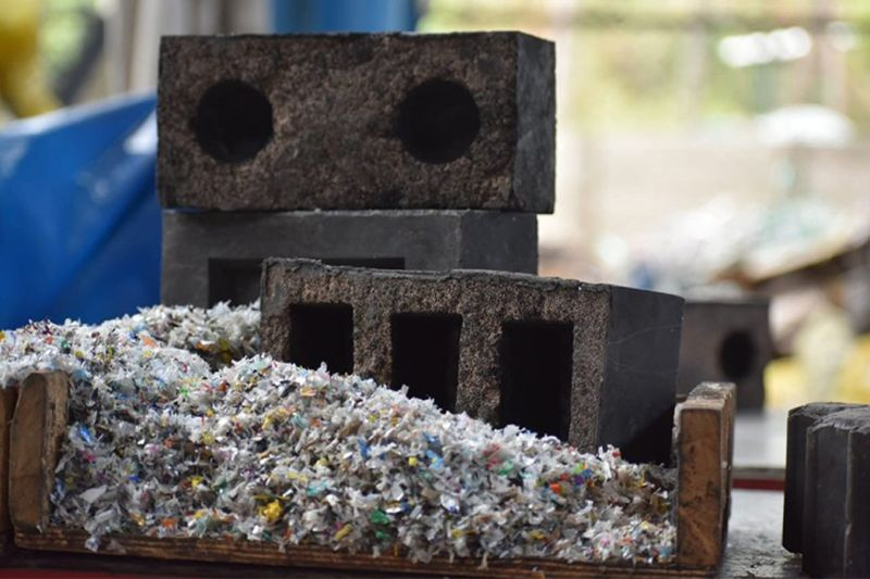 Rhino Machines Creates Bricks from Foundry Waste and Plastic