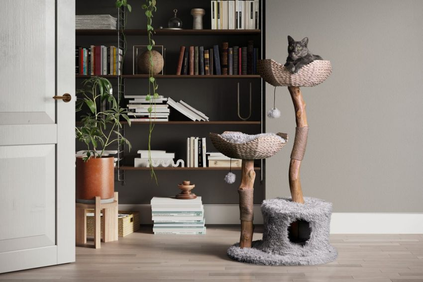 This Cat Tower Made from Premium Materials is Purr-Fect