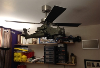 This DIY Apache Helicopter Ceiling Fan will be a Focal Point in Your Room