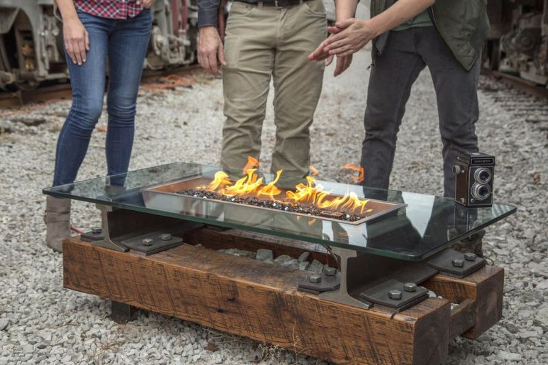 Trackside Fire Pit Rail Yard Studios Offers Fire That Dances to Music