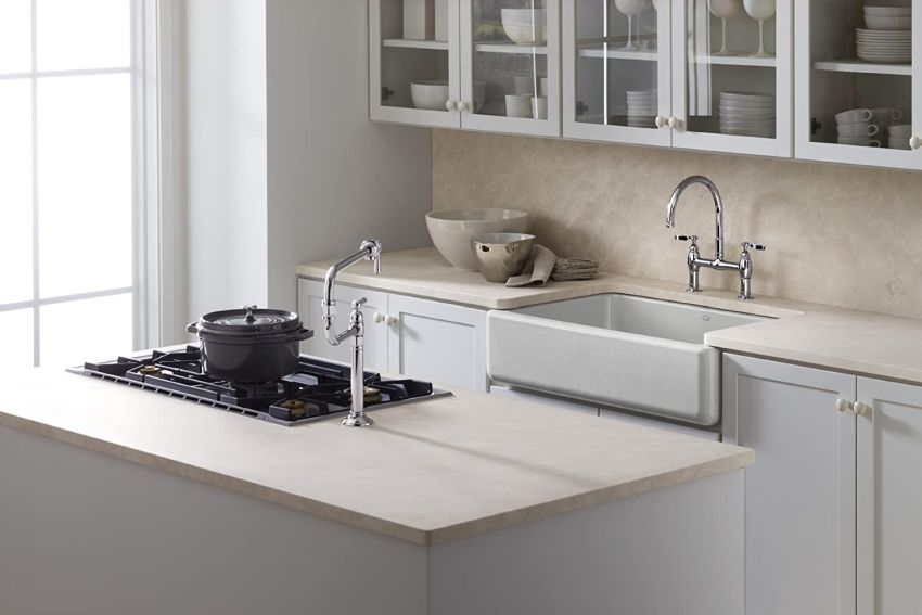 Whitehaven Apron-Front Sink by Kohler for a Farmhouse Style Kitchen