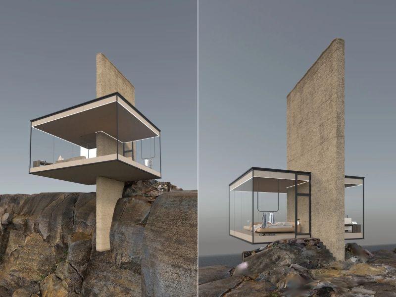 Yakusha Design Comes up with Unique Cliff House Concept