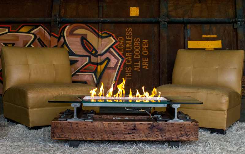 trackside fire pit by rail yard studios