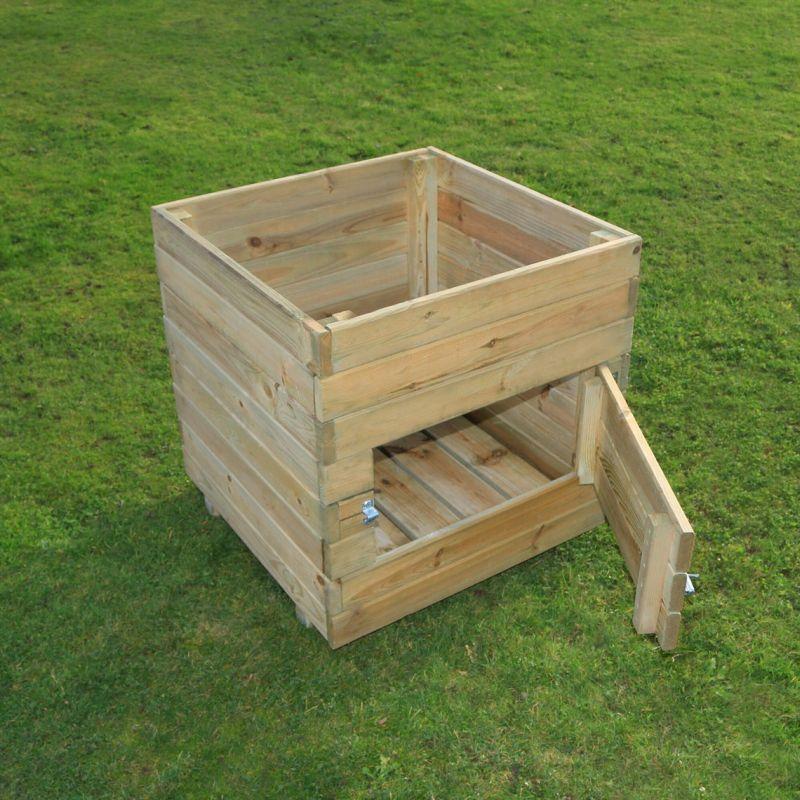 Wooden Potato Planter by Horizon Design Studios