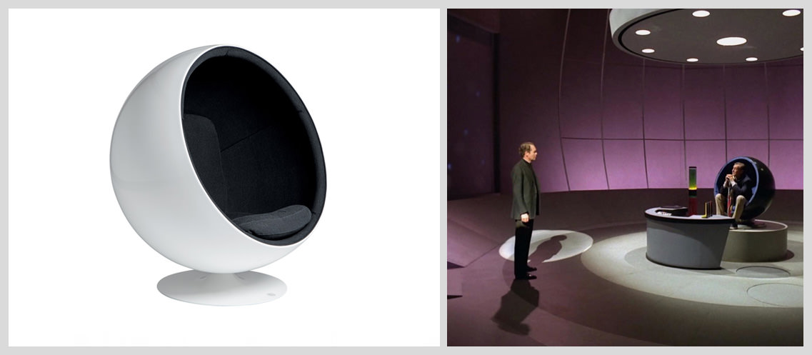 Ball-Chair-by-Eero-Aarnio-in-The-Prisoner - Famous Chairs in Movies and Pop Culture