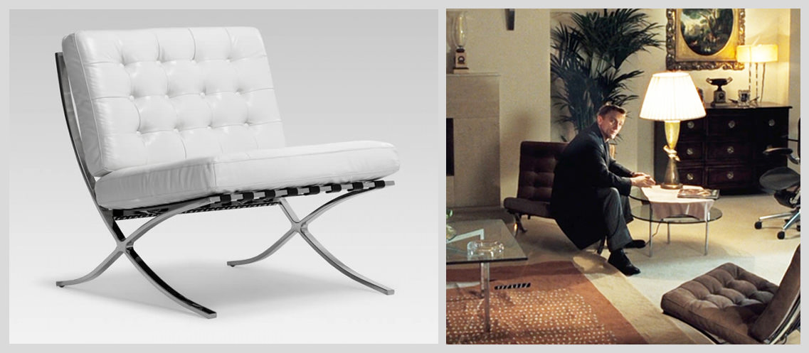 Barcelona-Chair-by-Mies-van-der-Rohe-&-Lilly-Reich - Famous Chairs in Movies and Pop Culture