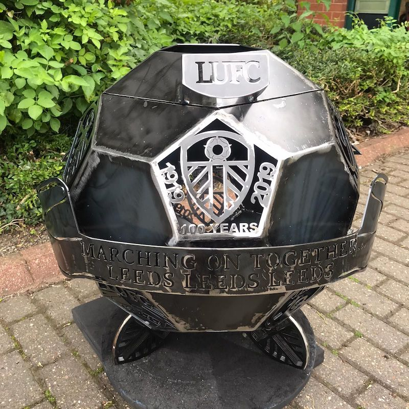 Leeds United FC Wood Burner by Burned by Design