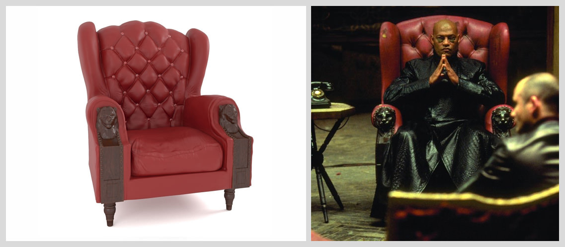 Ruby-Leather-Wingback-Chair-in-The-Matrix - Famous Chairs in Movies and Pop Culture