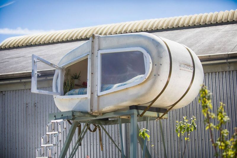 Sleeping Pod at Culture Campsite in Rotterdam