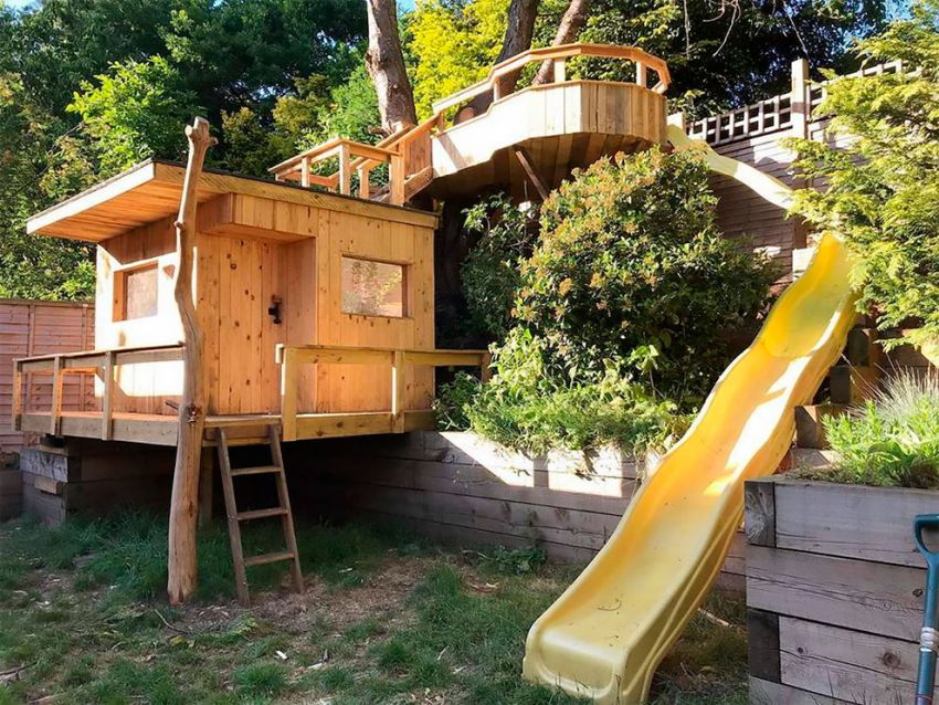 Watford Dad Builds Amazing Garden Treehouse For His Daughters