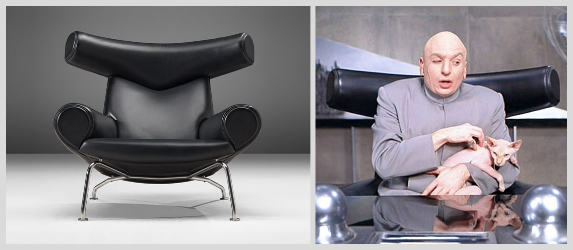 Wegner-Ox-Chair-by-Hans-Wegner-in-Austin-Powers - Famous Chairs in Movies and Pop Culture