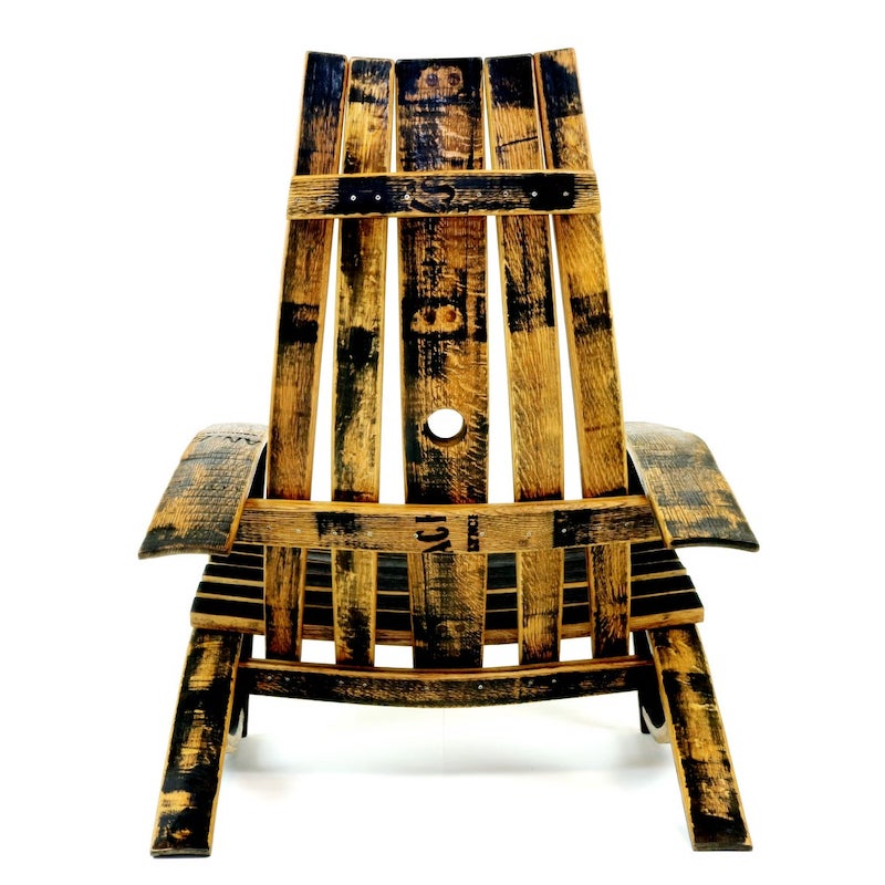 Bourbon Barrel Adirondack Chair by Hungarian Workshop