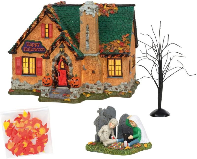 Department 56's Halloween Snow Village Houses are Available on Amazon