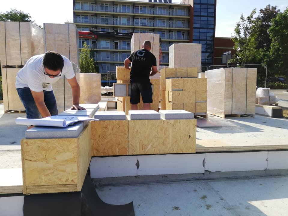 Gablok self-build insulated wooden blocks
