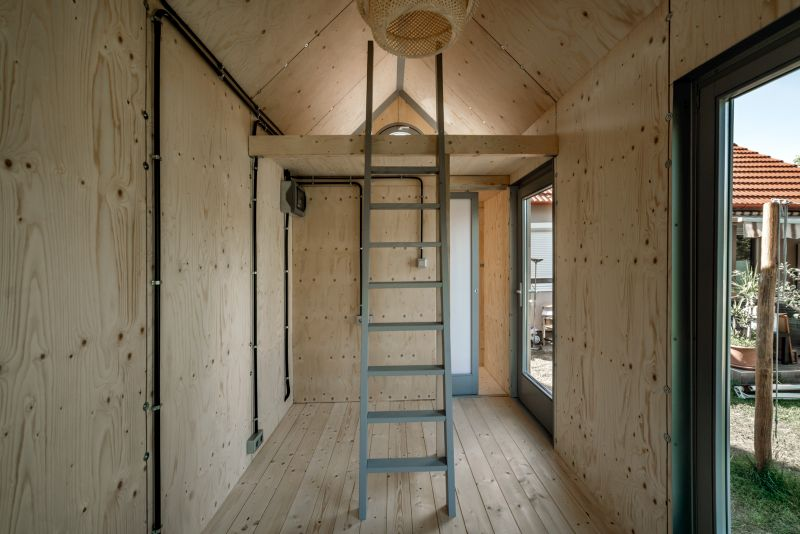 Hello Wood's Affordable Cabin Kabinka Serves as A Backyard Office All Year Round