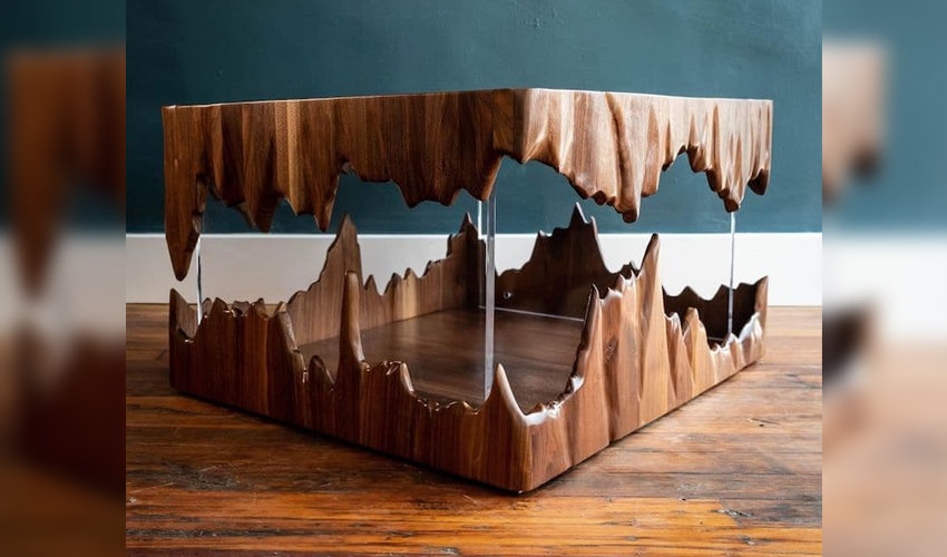 Impossible Floating Cave Table by John Malecki
