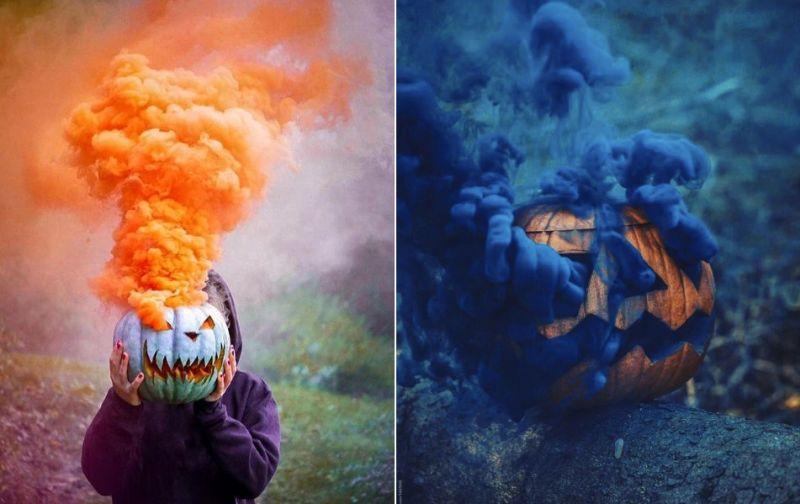 Pumpkin Smoke Bomb Photography is New Halloween Trend