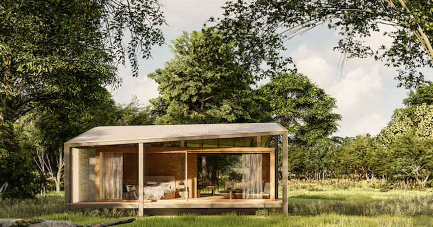 Stilt Studios Builds Tiny Tetra House Using Recycled Tetra Pak Cartons