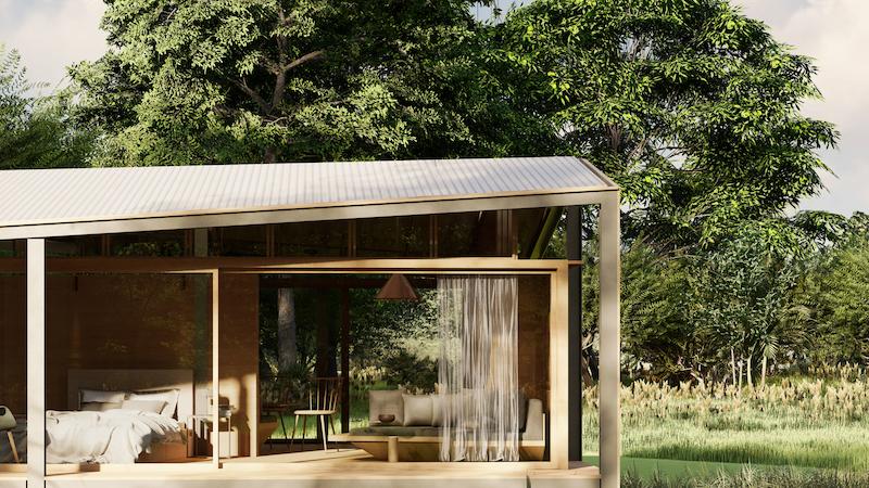 Stilt Studios Builds Tiny Tetra House Using Recycled Tetra Pak Cartons