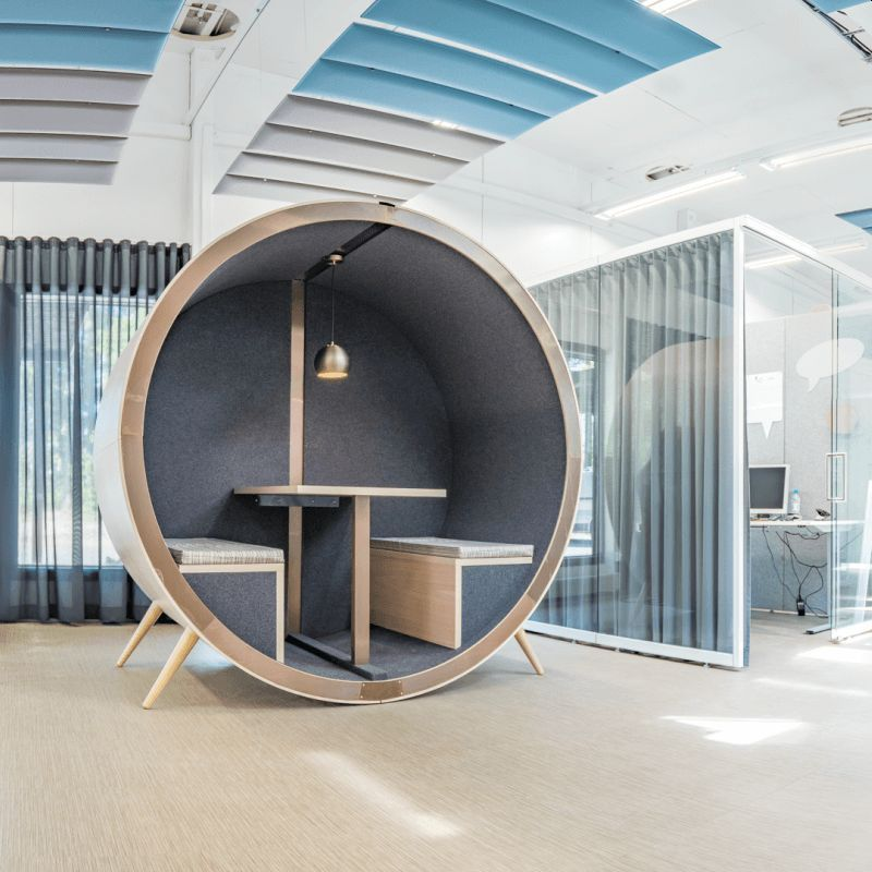 This Office Meeting Pod is Perfect for 1-4 People