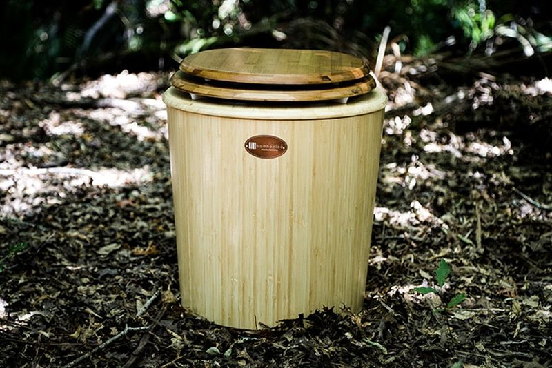 Bambooloo Waterless Composting Toilets are Made of Bamboo