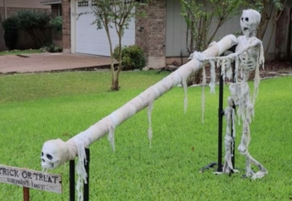 DIY Couple Creates DIY Candy Slide for Social-Distanced Trick-or-Treating