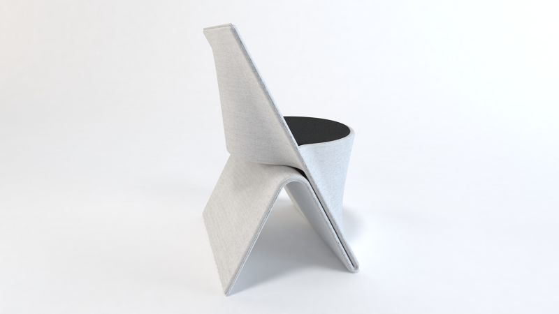 EXO Chair by Svilen Gamolov Fits into Interior Space Smoothly
